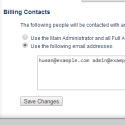 Change Billing Contacts